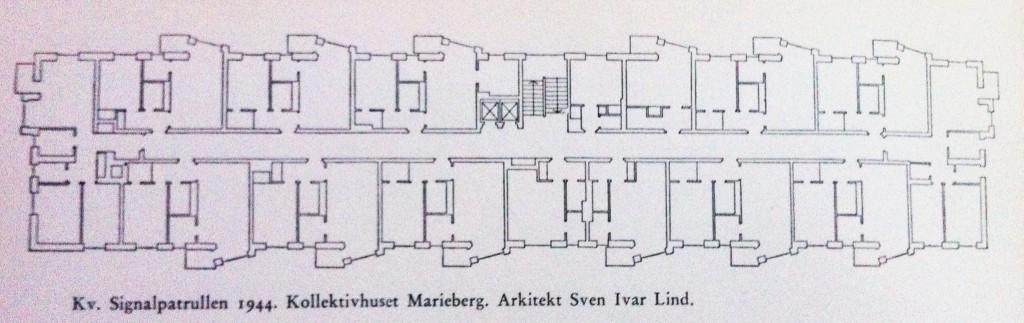 Planritning på en våning