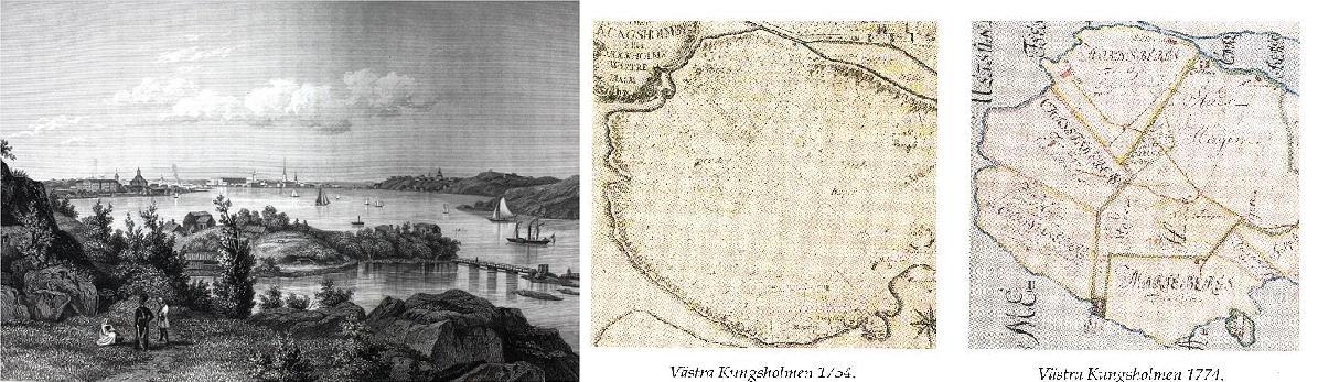 Utsikten från Marieberg 1754-1842