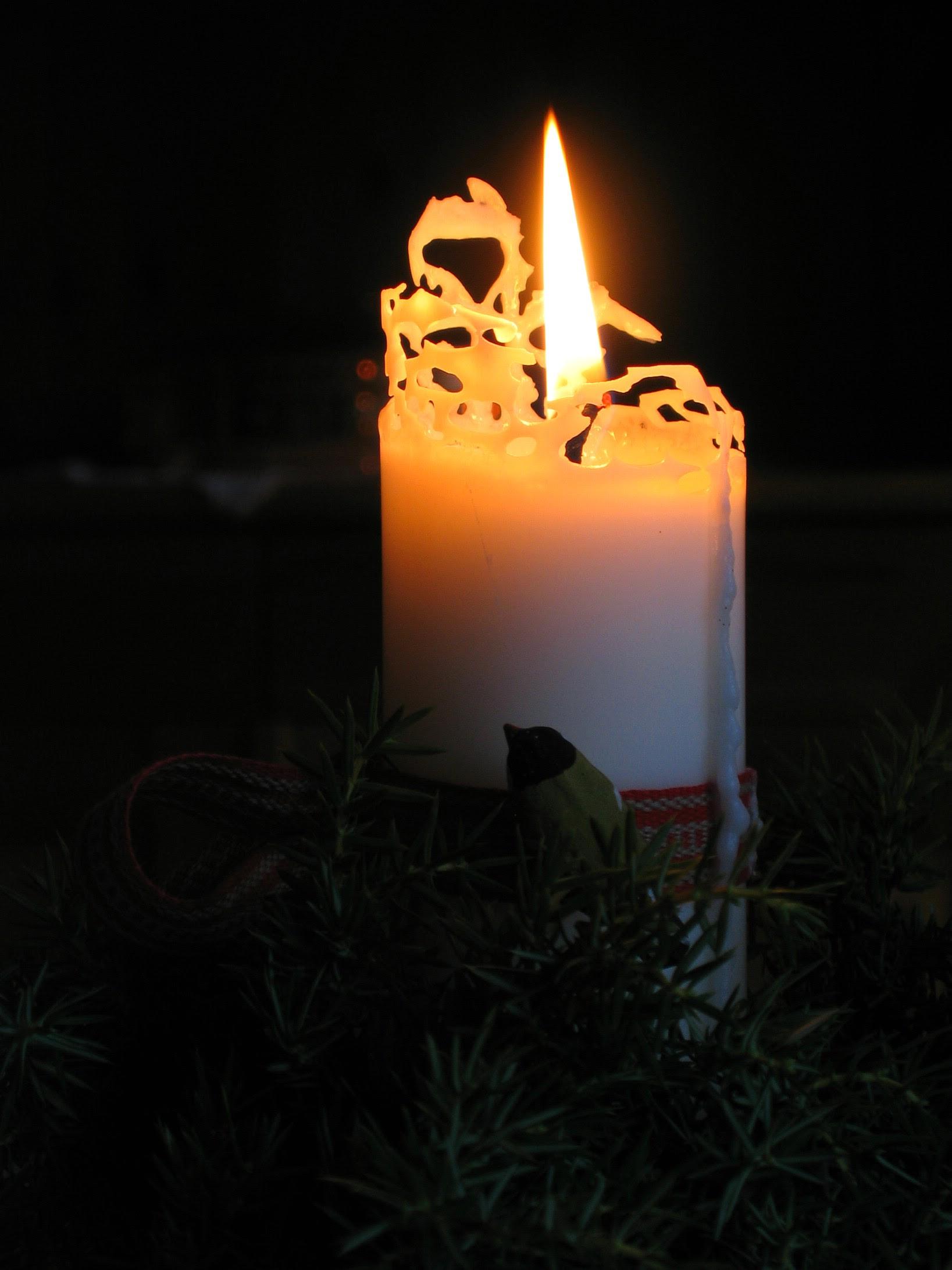 Brinnande ljus